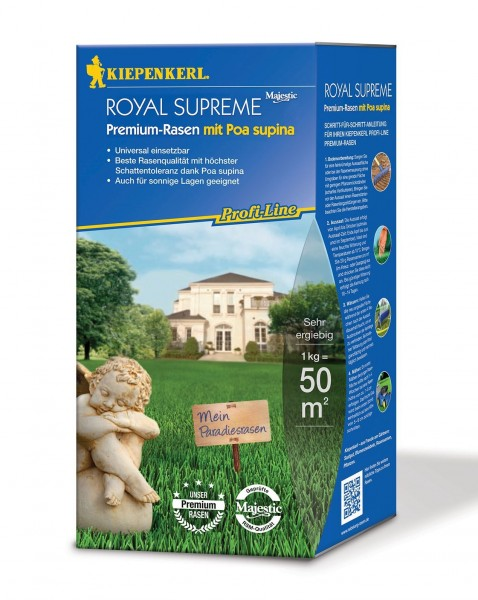 PAckshot der Kiepenkerl Profiline Royal Supreme Schattenrasenmischung mit Poa supina