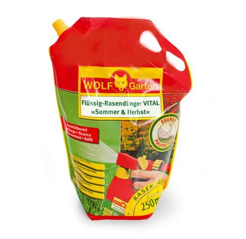 Wolf-Garten LV 250 R Vital Sommer und Herbst Flüssig-Rasendünger Nachfüllpack