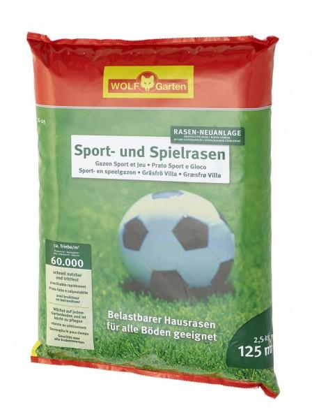 Wolf-Garten LG 125 Sport -und Spielrasen 2,5 kg Rasensamen für 125qm
