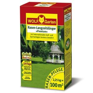 Wolf LE 100 Langzeitrasendünger Premium 2,25kg Dünger für 100qm 120 Tage