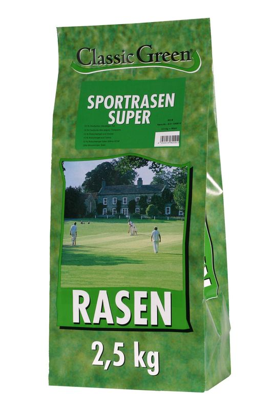 classic green sportrasen super 2 5kg rasensamen. Black Bedroom Furniture Sets. Home Design Ideas