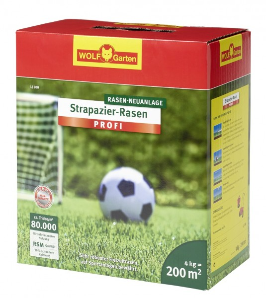 Wolf-Garten LJ 200 Strapazier-Rasen 4kg Rasenmischung für 200qm
