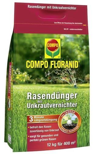 COMPO Floranid Rasendünger mit Unkrautvernichter 12 kg