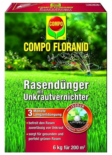 COMPO Floranid Rasendünger mit Unkrautvernichter 6 kg