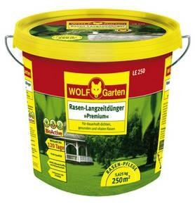 Wolf LE 100 Langzeitrasendünger Premium 5,625kg Dünger für 250qm 120 Tage