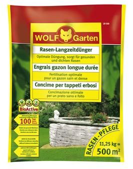 Wolf LN 500 Rasen-Langzeitdünger 11,25kg für 500qm Garten